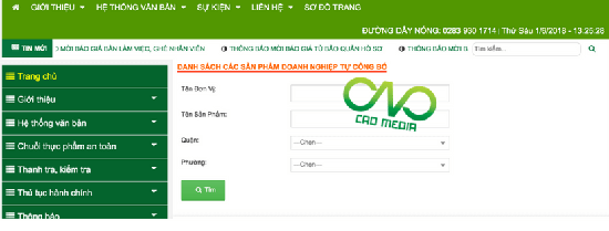 C.A.O hướng dẫn kiểm tra kết quả tự công bố sản phẩm trên cổng thông tin điện tử tại ban quản lý ATTP