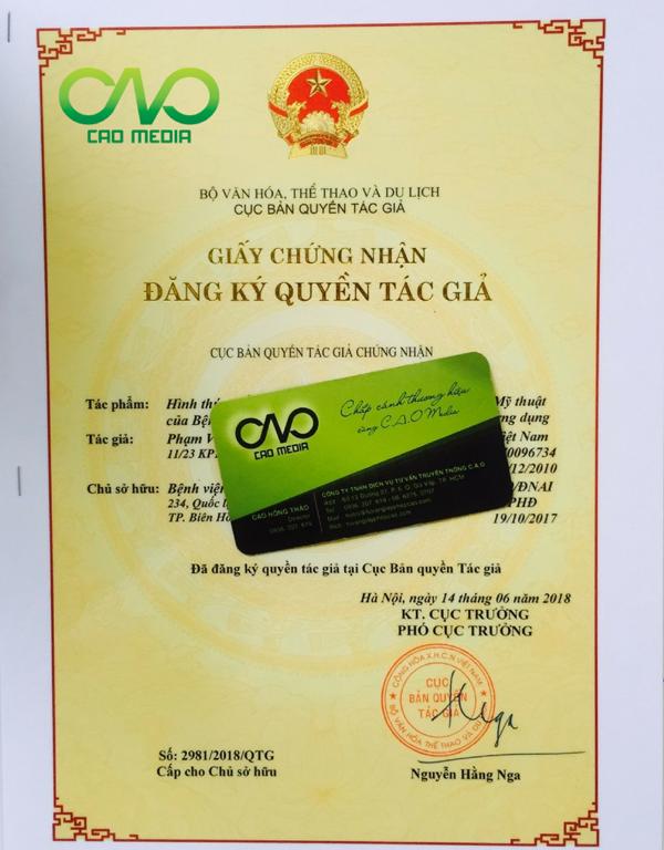 C.A.O Media thực hiện đăng ký bản quyền logo cho công ty mới thành lập (Ảnh C.A.O)