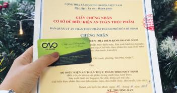 Xin giấy chứng nhận an toàn thực phẩm cho địa điểm kinh doanh thực phẩm
