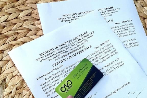 Thủ tục xin giấy chứng nhận lưu hành tự do cfs