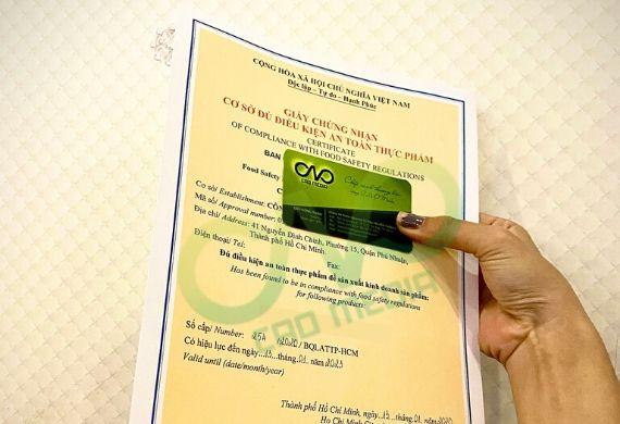 Xin giấy phép an toàn thực phẩm tại nơi sản xuất tôm khô