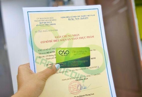Xin giấy chứng nhận an toàn thực phẩm tại quận Phú Nhuận
