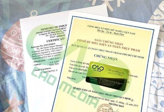 Xin giấy chứng nhận an toàn thực phẩm tại quận Thủ Đức