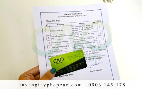 Thử nghiệm khẩu trang y tế theo quy chuẩn TCVN 8389:2010