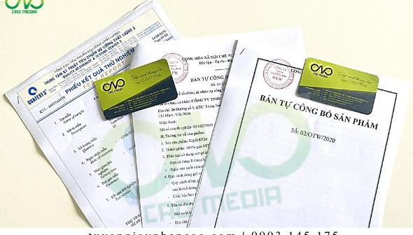 Hồ sơ công bố chất lượng sản phẩm