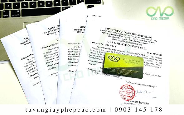 Dịch vụ xin Certificate of Free Sale hạt điều nhân