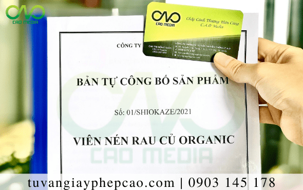 Tự công bố chất lượng viên nén rau củ organic