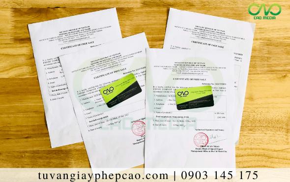 Xin giấy Certificate of free sale dầu đậu nành xuất khẩu