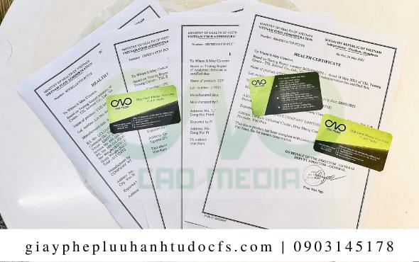 Quy trìnhxin giấy chứng nhận health certificate cho bánh bao cà chua