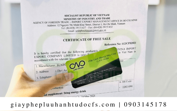 Hồ sơ đểxin giấy chứng nhận lưu hành tự do cho bánh mì gà xé