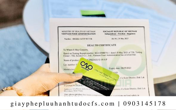 Quy trìnhxin giấy chứng nhận y tế cho bánh bao nấm nhân đậu xanh